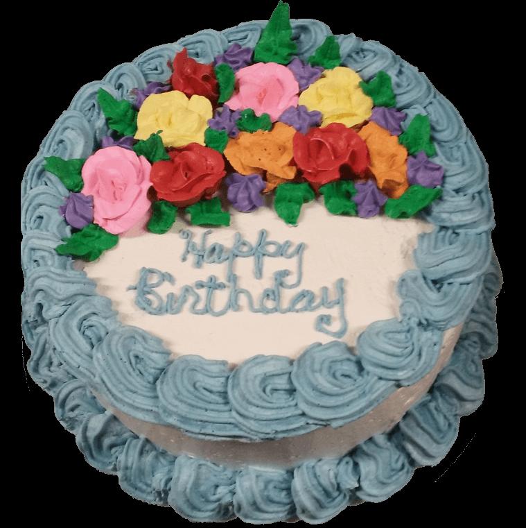 Ice Cream Cakes Blue Birthday