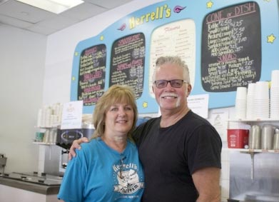 Rick and Cathy Meuser of Herrell's® in Huntington, New York